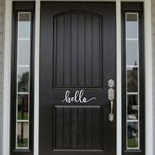 Perk Up Your Front Porch With This Hello Front Door Decal Front Door Decor Front Door Decal Hello Decal Home Door Design Front Door Decal Garage Door Design