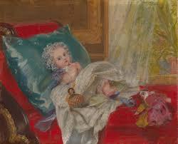 Henrietta Mary Ada Ward (1832-1924) - Princess Beatrice, later Princess  Henry of Battenberg (1857-1944) when a Child.
