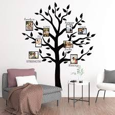 Amazon Com Large Family Tree Branch Photo Frames Wall Decals Quotes Stickers For Living Room Home Decor Art 69x83in Kitchen Dining