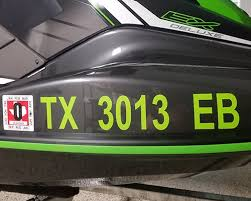 Vinyl Boat Lettering Number Stickers Easy Install