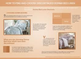 choose discontinued dorma bed linen