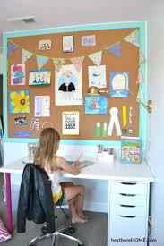 Diy Cork Board Wall In 2020 Art Display Kids Diy Cork Board Cork Board Wall