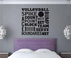 Volleyball Vinyl Decal Wall Stickers Words Letters Sports Teen Room Decor Ebay