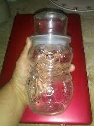clamp hinged lid candy cookie jar
