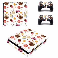 Custom Design Food Cake Decal Ps4 Slim Skin Sticker For Sony Playstation 4 Console And 2 Controllers Ps4 Slim Skin Sticker Consoleskins Co