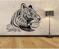 Tiger Wall Decal Vinyl Sticker Art Decor Bedroom Design Mural Etsy Vinyl Wall Decals Wall Decals Sticker Art