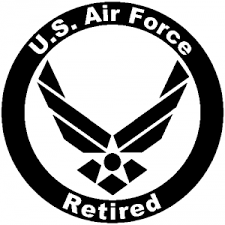Us Air Force Retired Circle Car Or Truck Window Decal Sticker Rad Dezigns