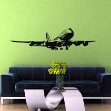 Landing Boeing 747 Designed Wall Sticker Aviation Shop