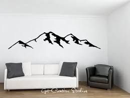 decal rocky mountains wall decal