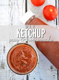 homemade ketchup recipe using fresh