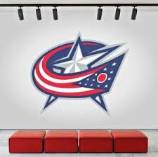 Columbus Blue Jackets Logo Wall Decal Ice Hockey Sports Vinyl Sticker Nhl Cg215 Ebay