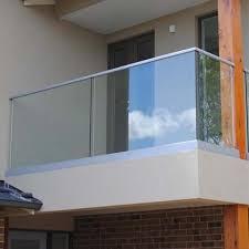 aluminum u channel basement glass railing