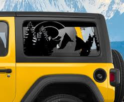 Jeep Wrangler Jk Jl State Of Colorado Flag Window Hardtop Set Vinyl Decal Jeep Wrangler Decal
