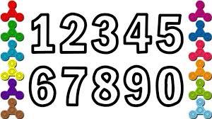 Dạy bé học đếm số Tiếng anh(Learn Number) | Bé tập tô màu chữ số ...