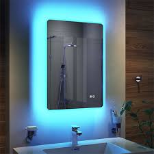 colour change led bluetooth mirror