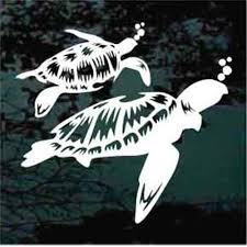 Beautiful Sea Turtles Car Decals Window Stickers Decal Junky