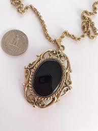 vintage whiting davis necklace black