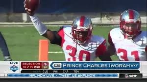 49ers select Western Kentucky CB Prince Charles Iworah with 249th pick in  2016 NFL Draft - video dailymotion