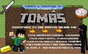 La Super Mamy Minecraft Ideas Para Un Cumple Cuadrado