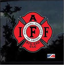 Fire Fighters International Association Iaff Full Color Decal Sticker Custom Sticker Shop