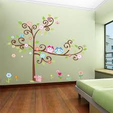 Cartoon Wall Stickers Diy Owl Wall Decals For Children Nursery Independence