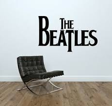 The Beatles Logo Wall Decal Music Band Group Wall Art Vinyl Mural Sticker Ebay