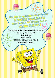 Printable 5 X7 Invite Spongebob Best Day Ever Collection