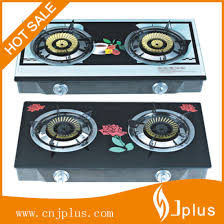 china 2 burners tempered glass top