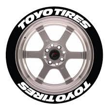 Toyo Tires Tire Stickers Permanent Raised Rubber Huge Stocks Driftshop Com