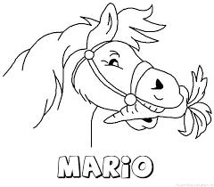 Mario Paard Van Sinterklaas Naam Kleurplaat