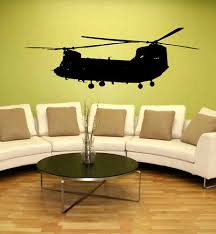 Ch 47 Chinook Helicopter Us Army Wall Vinyl Decal 5ft Vinyl Wall Decals Chinook Helicopters Superhero Room