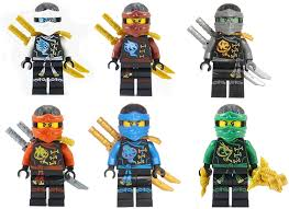 Amazon.com: LEGO Ninjago: Ninja's Set of 6 - Lloyd, NYA, Zane ...