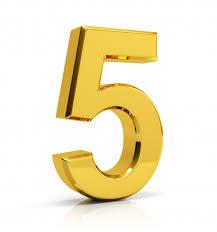 Número de oro 5 | Foto Premium