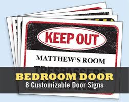 Fun Kids Bedroom Door Signs Printable Customizable Digital Etsy