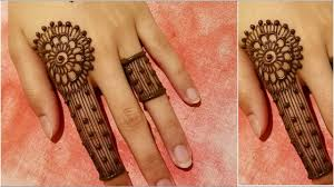 stylish simple unique finger mehndi design