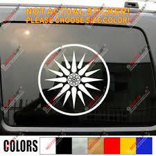 Sun Of Vergina Macedonia Flag Decal Sticker Car Vinyl Macedonian Pick Size Round Ebay