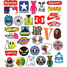 Fashion Brand Stickers Buy Luggage Skateboard Stickers Decals Wholesale Stickers