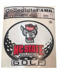 Wolf Pack Nc State Golf Decal 6 Alumni Hall