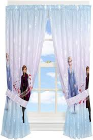 Franco Kids Room Window Curtain Panels With Tie Backs Drapes Set 82 X 63 Disney Frozen 2 In 2020 Panel Curtains Frozen Room Kid Room Decor
