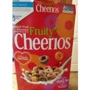 fruity cheerios oat cereal calories