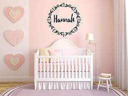 Amazon Com Vinyl Sticker Hannah Girl Floral Name Font Type Kids Room Nursery Mural Decal Wall Art Decor Eh3920 Handmade