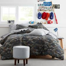 Company Kids By The Company Store Camouflage Jersey Knit Full Queen Comforter 30311e Fq Multi The Home Depot