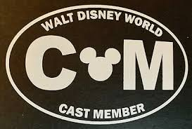 Walt Disney World Cast Member Vinyl Car Decal Ebay