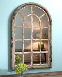 arched mirror with panes window pane