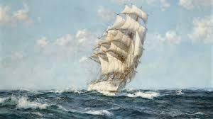 schooner ship sail ship ocean painting