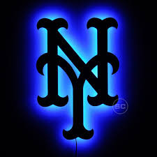 New York Mets Lighted Sign Ny Mets Baseball Logo Wall Art Bright Led Lighting By Signschromatic On Etsy Https Www Mets Baseball Ny Mets Baseball Ny Mets