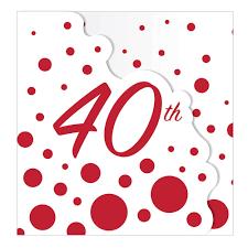 8x Rubi Fiesta Boda Invitacion Tarjetas 40th Aniversario