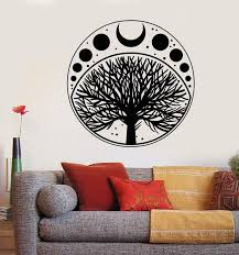 Vinyl Wall Decal Moon Phases Cycle Tree Of Life Symbol Stickers Unique Wallstickers4you
