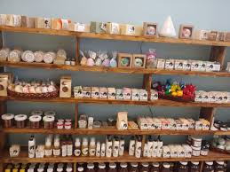 s with soaps and lotions selling