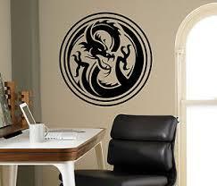 Dragon Wall Vinyl Decal Monster Vinyl Sticker Medieval Home Bedroom Interior 4 Ebay